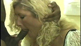 Blonde wife loves black cock and cum