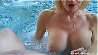 Granny BJ From The Pool