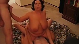 Hot big boobs milf riding a cock