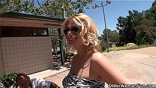 Blonde soccer mom Brooklyn Bailey makes her cuckold hubby watch