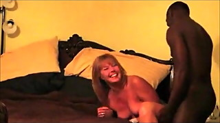 A mature white cuckold having orgasms from a aBBC