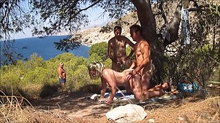 Hot Granny Dogging in the Forest and Fucked from Behind