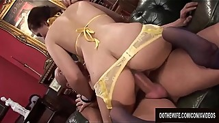 Wife Karia Kare Humiliates Her Cuckold Hubby While Getting Her Pussy Plowed