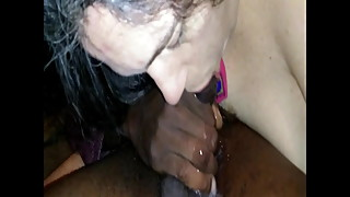 Wife has Fun with Strangers BBC, Sloppy Deepthroat Blowjob!