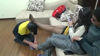 chinese cuckhold foot slave