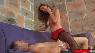 Molly Jane and Alex Adams in a cuck pegging scene