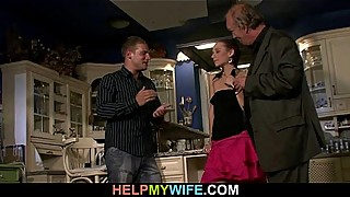 Cuckolding wife opens legs for a stranger