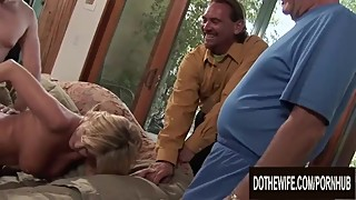 Cuckold Husband Watches a Stranger Pleasure His Blonde Wife Lya Pink