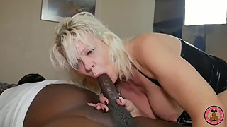 Cuckold hubby coaches housewife on how to take 10 inch BBC