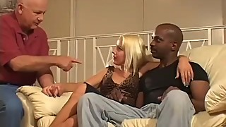 Barbi gets drilled by a big hard cock in front of her husband