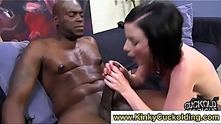 Horny loser watches sockings femdom