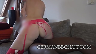 GERMANBBCSLUT German Blonde wife crazy for Black Cock