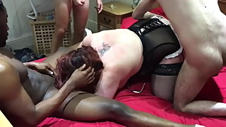 BBW WIFE FUCKED BY GROUP