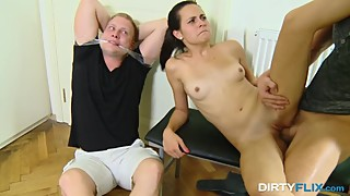 Dirty Flix - Ashley Woods - Busted and made a cuckold