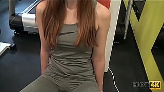 HUNT4K. Naughty guy picks up young hottie and fucks her right in gym