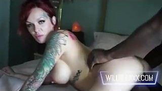 Redhead alternative hotwife cuckolds hubby with big dick bbc neighbor