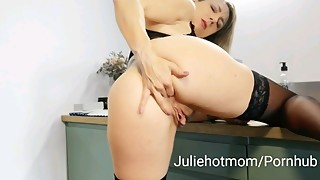 stepmom kitchen, good fuck the morning with my hot stepmom