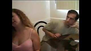 Chubby Elle Cuckold Series 2 - Sad Hubby Cums While Watching